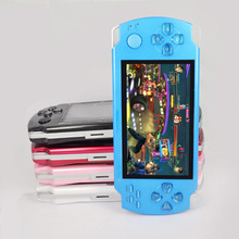 feee shipping 5000 games 4.3 Inch 4GB PMP Handheld Game Player MP3 MP4 MP5 Player Video FM Camera Portable Game Console(China (Mainland))