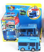 Free delivery one piece Korean Cute Cartoons garage tayo the little bus model mini tayo plastic baby  car for Christmas gift(China (Mainland))