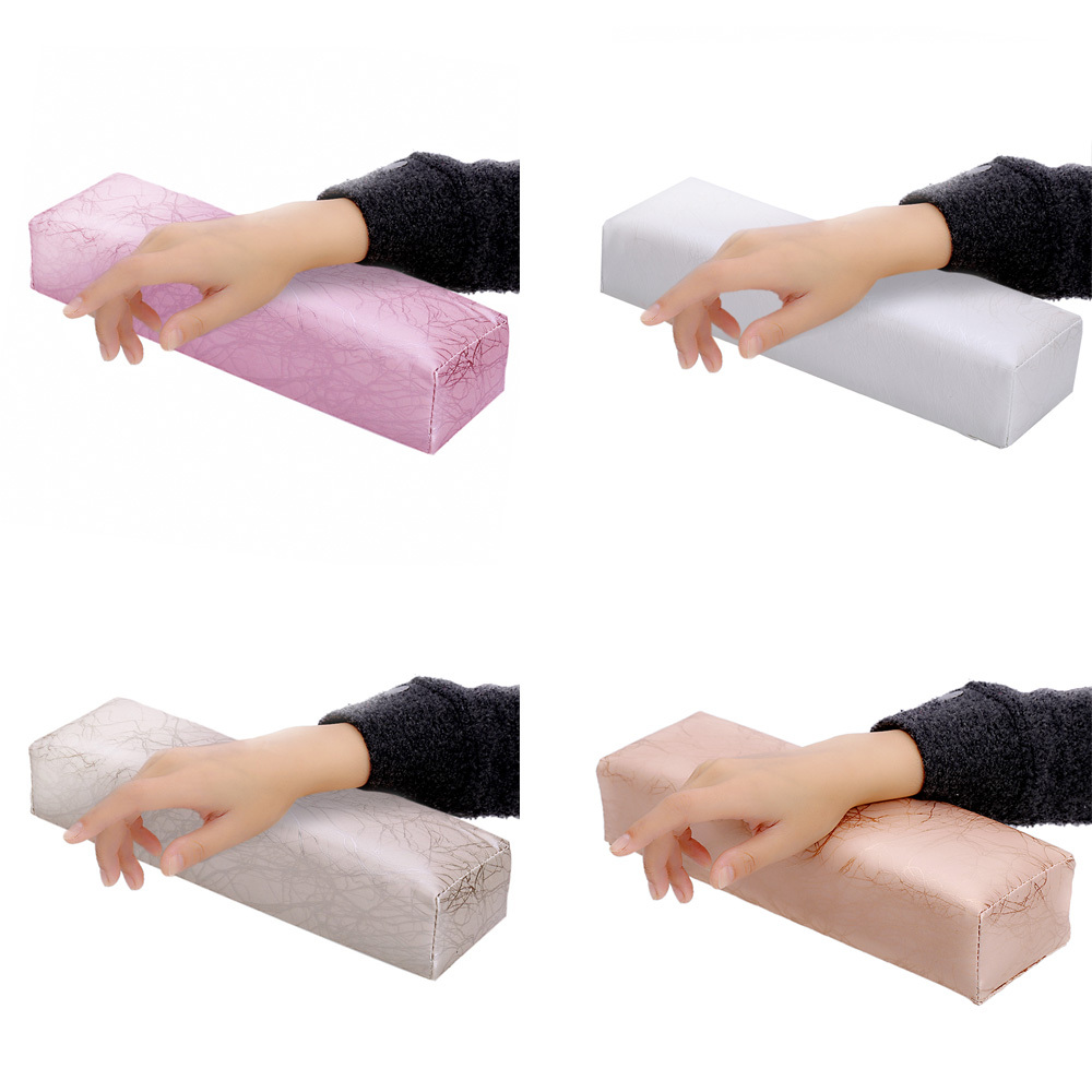 Professional Nail Art Hand Cushion Pillow Holder Soft Arm Rest Manicure Tool PU leather sponge Nail arm makeup tools(China (Mainland))