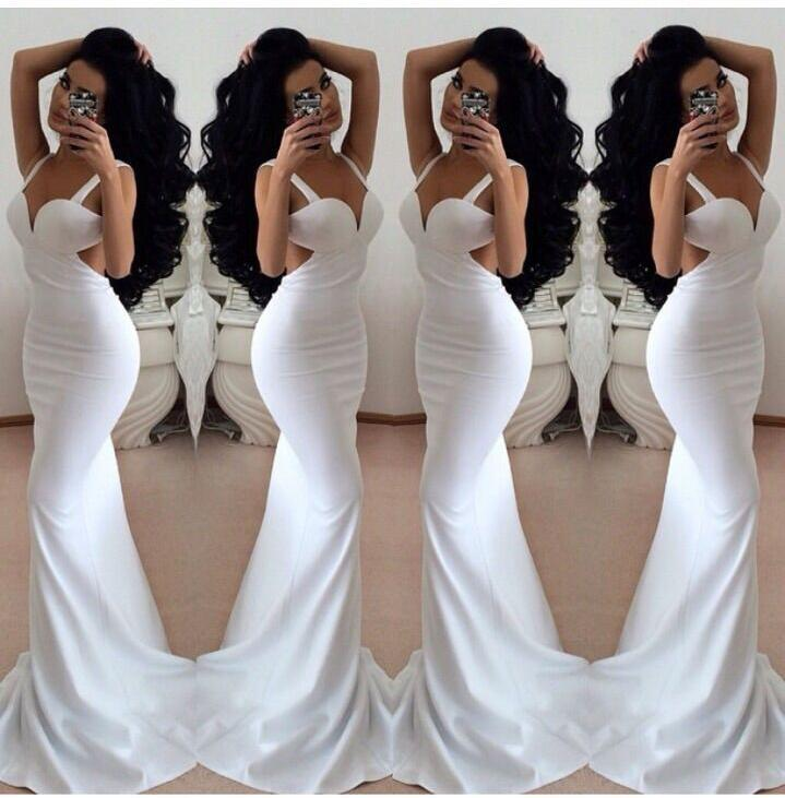 Sexy White Shirt Ball Gown Mermaid Belt Pulling The