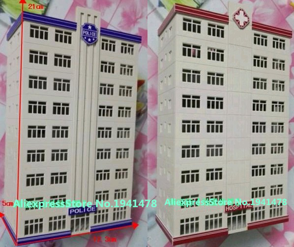 1/150 Model Train N scale model police hospital building architectural model material sand table model materials Free Shipping(China (Mainland))