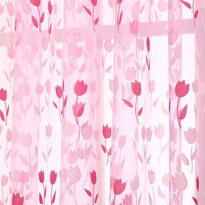 2016 new style curtains window Modern rose Tulle Curtains for Living Room curtains for Bedroom Kitchen tulles sheers(China (Mainland))