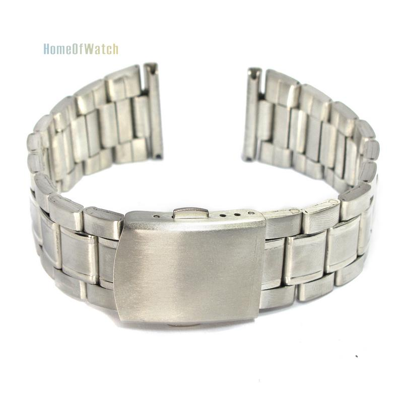 22mm Stainless Steel Polished Metal Watch Bracelet Straight End Solid Links(NBW0BD8047-SI322)(China (Mainland))