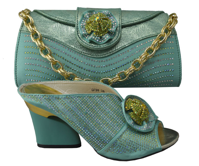 High quality women's Charming pumps African Matching Shoe and Bag set with Italian design wholesale and retail in GF38