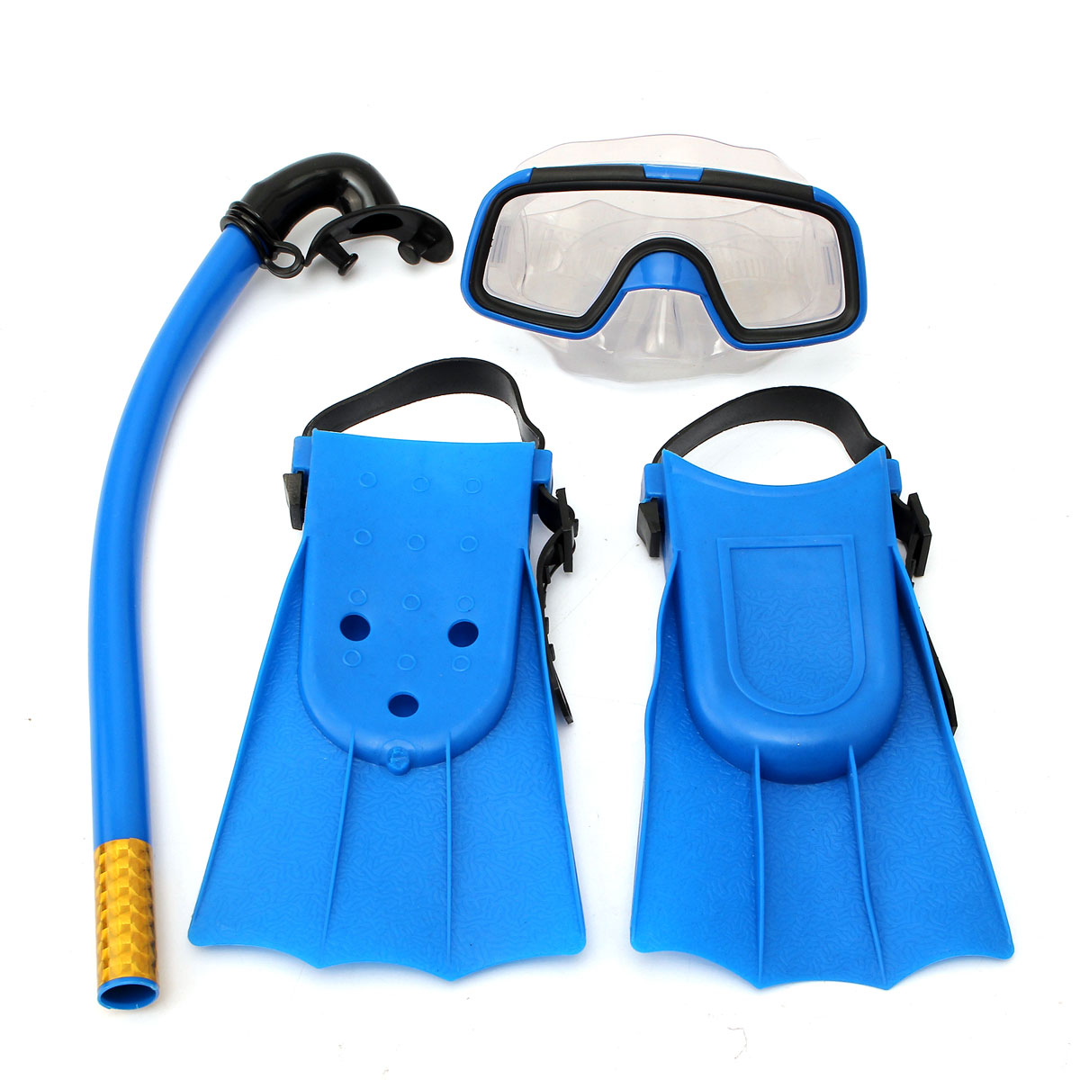 Panoramic Snorkeling Diving Mask Fins Flippers 3pcs ...