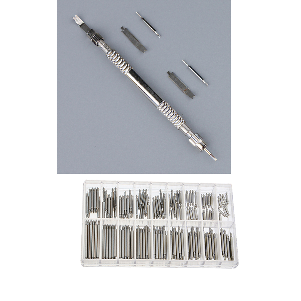 Watch Spring Bar Tool Set with Extra 4 Tips Pins for Watch Wrist Bands Strap Removal Repair Kit,180pcs Watch Pins