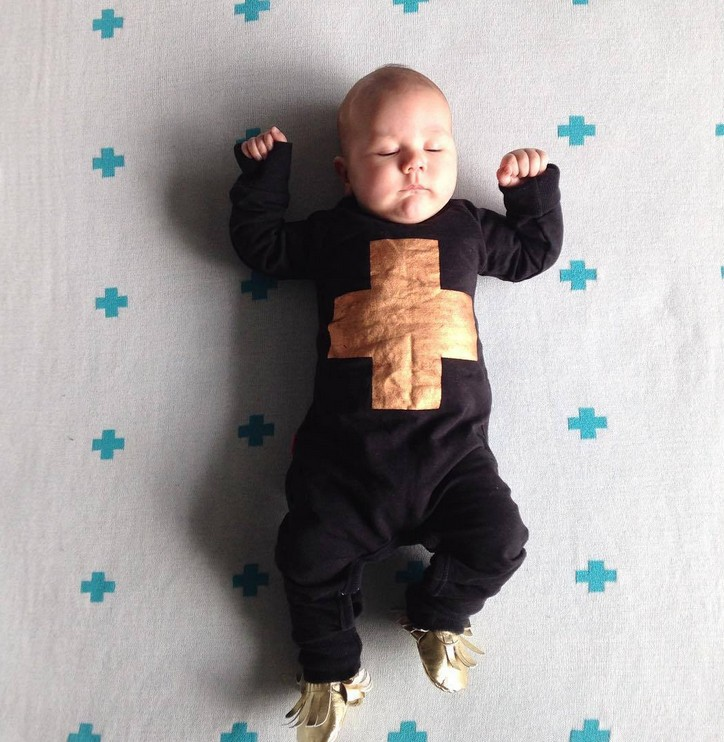 2015autumn New Style Baby Boy Clothes Cool Black Baby