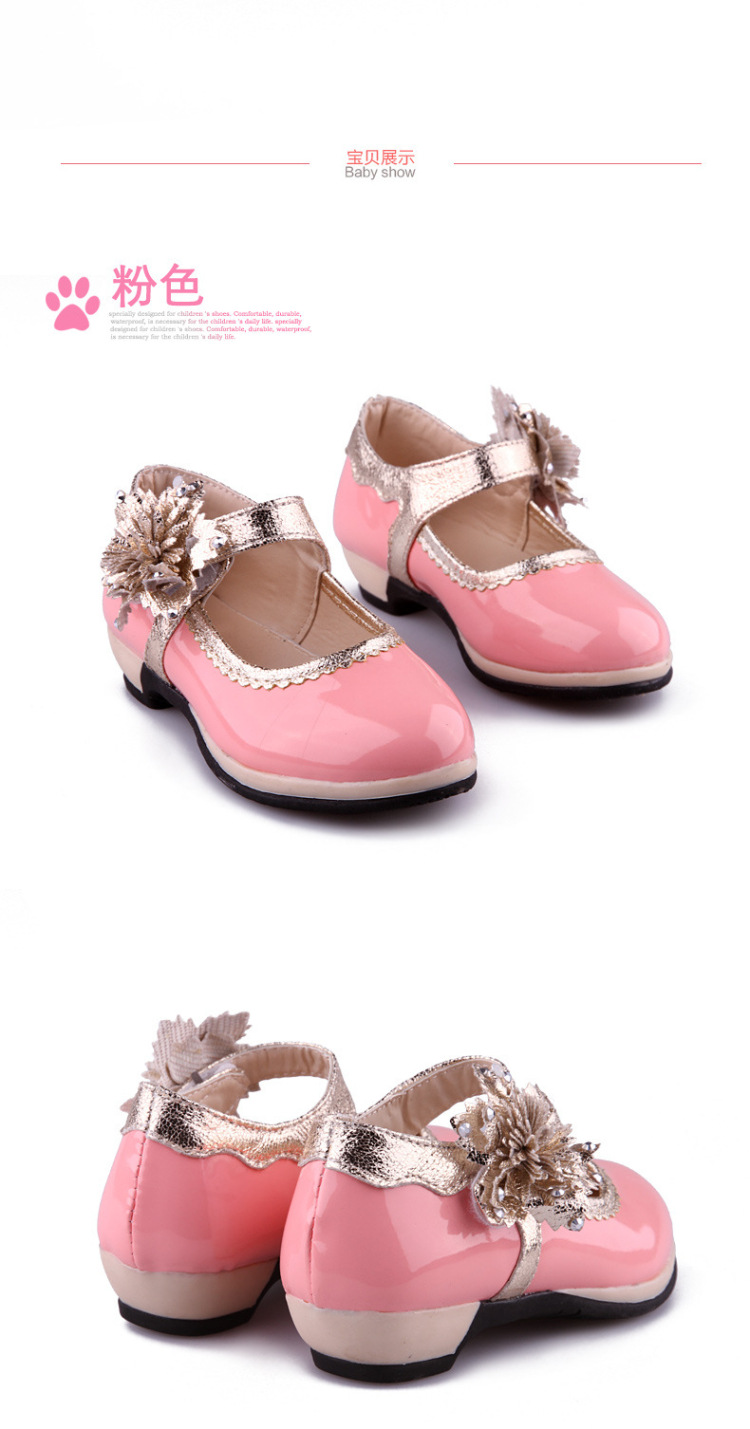 2016 New summer Autumn Kids Pu leather sigle shoes girls princess and similer party shoes Toddler casual  student's shoes