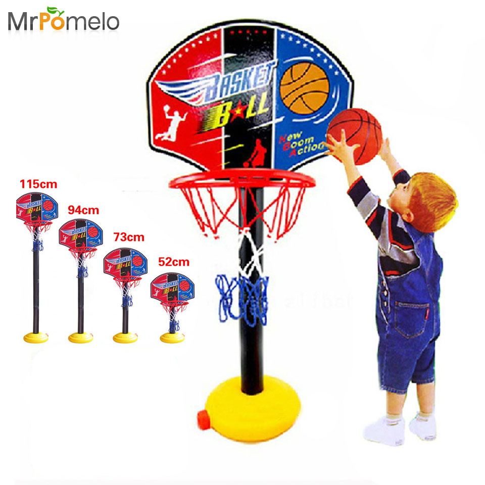 Kids Outdoor Sports Portable Basketball Toy Set with Stand Ball Pump Toddler Baby Indoor Toys for Child Original Birthday Gift(China (Mainland))