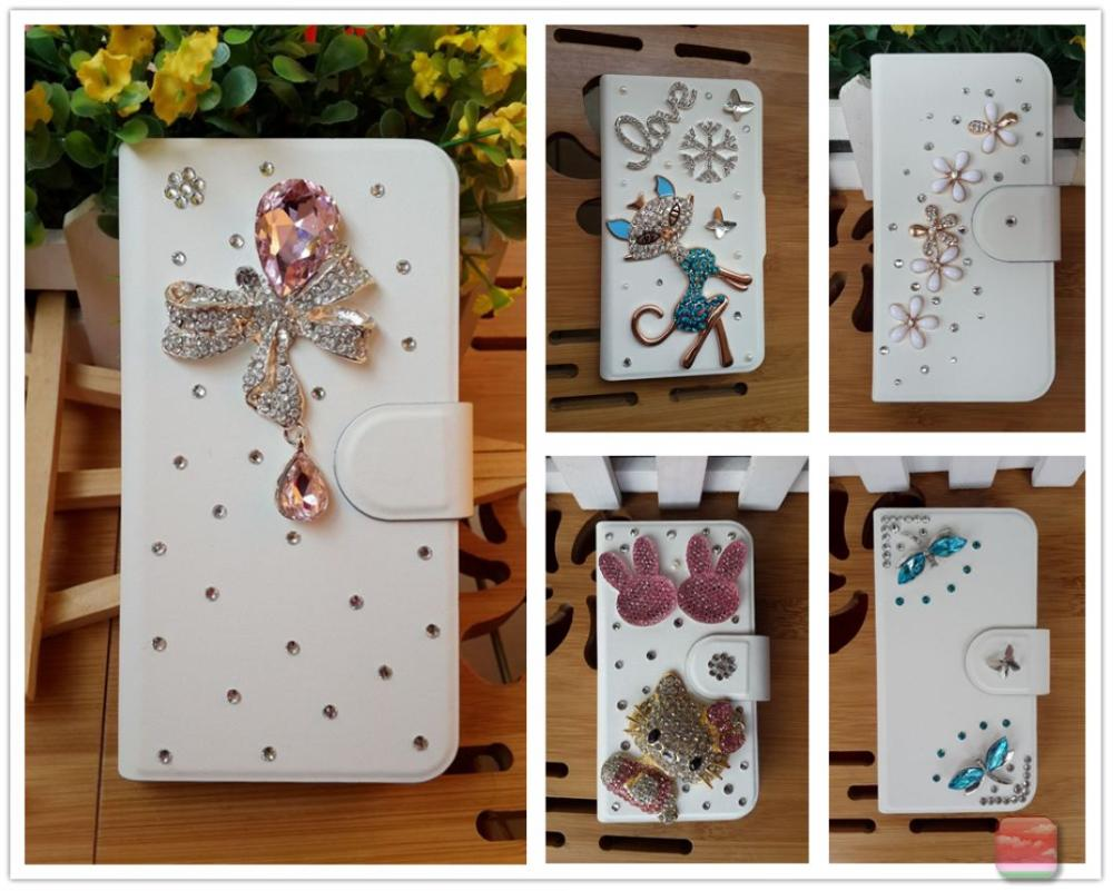 Diamond pearl Butterfly sheep Bear Flower tower crown leather flip case cover for Samsung Galaxy Ace 2 i8160(China (Mainland))