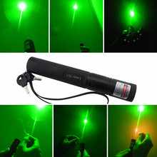 50000mW Adjustable Focus Burning Match Lazer 301 Green Laser Pointer Pen with Safe Key for Sale 8000 Meters New Arrival
