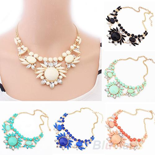 Women Fashion Mixed Style Irregular Bubble Bib Choker Statement Necklaces & pendants 032P(China (Mainland))