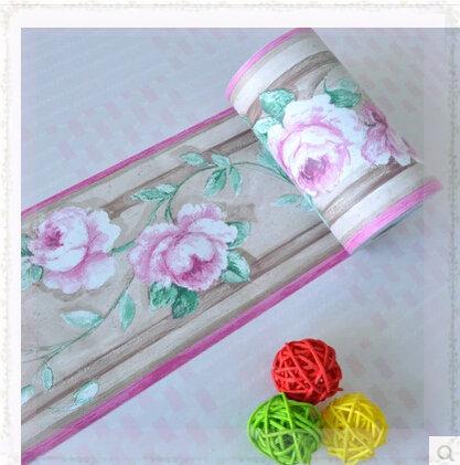 2 roll pvc vinilo autoadhesivo wallpaper frontera de la flor para ...