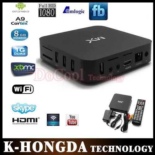 wholesale 30pcs XBMC CS838 Android 4.2 TV box Amlogic 8726 MX Dual core 1.5GHz 1GB RAM 8GB mx M6 cortex A9 droid tv box(China (Mainland))