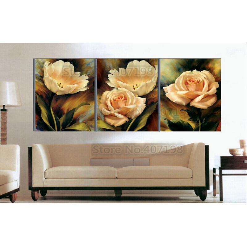 Mosaic 3D Diy Rhinestone Pasted Needlework Embroidery Triptych Diamond Painting Kit Cross Stitch Flowers peony Diamond pattern