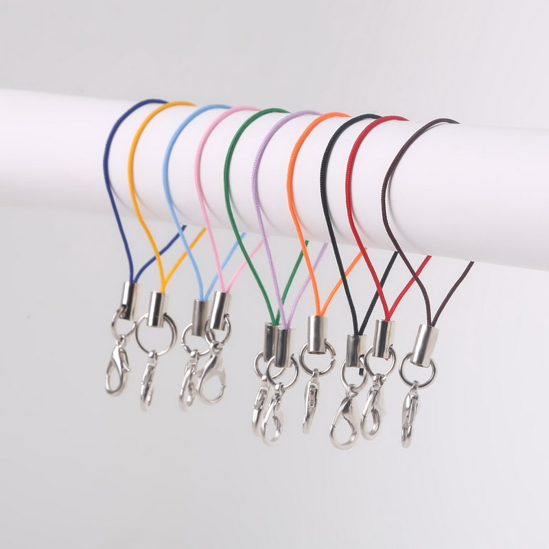 High Quanlity Random Mix Colors Pick Color 100pcs Cell Phone Lanyard Strap Cords Mobile Lobster Clasp Jewelry Findings cords(China (Mainland))