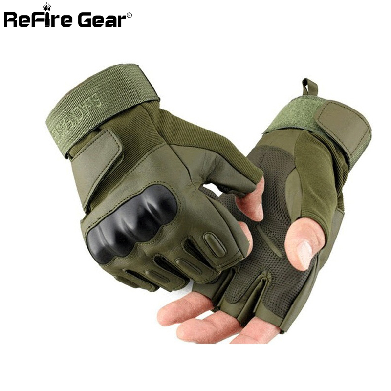 US Army PU Leather Tactical Gloves Men's Half-Finger Paintball Combat Military Glove Airsoft Fighting Shooting Fingerless Gloves(China (Mainland))
