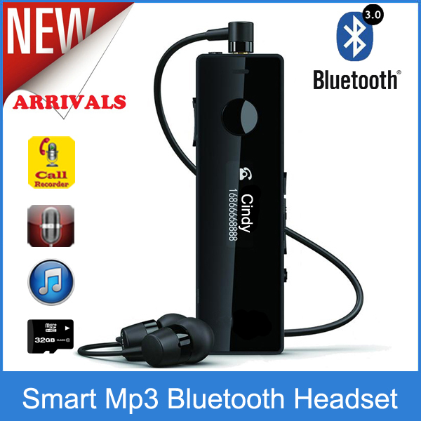 sbh52 style clip smart bluetooth stereo earphone headset with fm smart voice and telephone. Black Bedroom Furniture Sets. Home Design Ideas