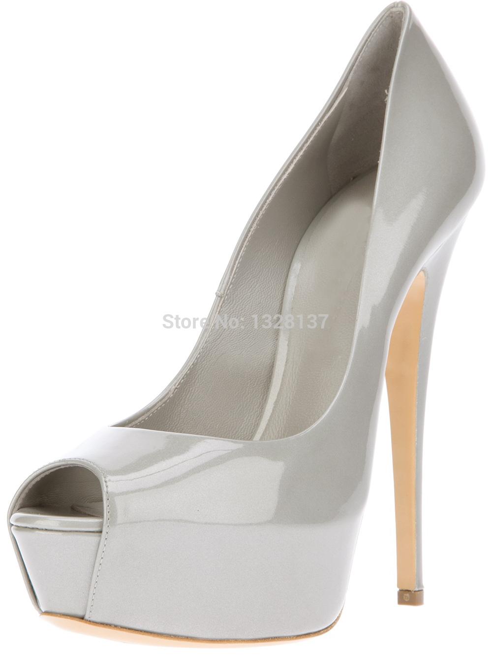 Shoes Woman Pumps Ankle Shoes Silver Heels Pumps Zapatos Peep Toe Pumps With Solid Platform Summer Platform Block Heel Pumps