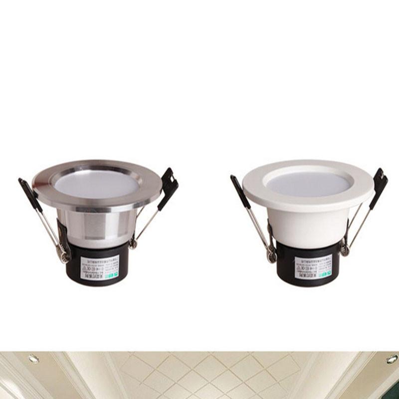 Купить Малый Встраиваемый СВЕТОДИОДНЫЙ Светильник 3 Вт 5 Вт AC85-265V Высокая яркость светодиодный прожектор потолочный светильник лампа Переднего Зеркала Свет