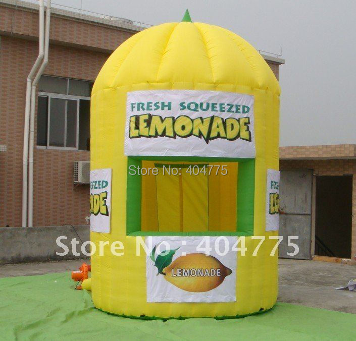 commercial grade PVC Inflatable lemonade booth HATE113-2 +free air blower+free shipping(China (Mainland))