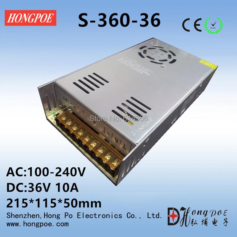 Best quality 48V 7.5A 360W Switching Power Supply Driver for CCTV camera LED Strip AC 100-240V Input to DC 48V free shipping<br><br>Aliexpress