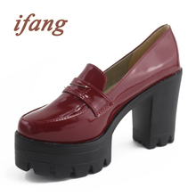 Platform Shoes Women Pumps 2016 Spring And Autumn Thick-Hlles Comfortable Sweet High-Heeled Shoes Match Color Block Women Shoes(China (Mainland))