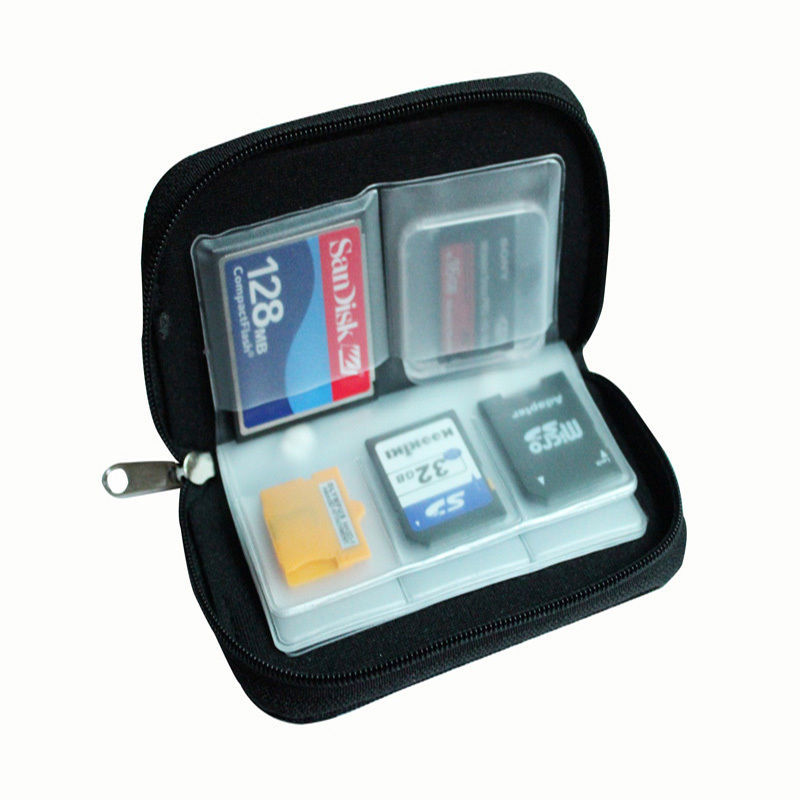 SD Memory Card Storage Carrying Zipper Pouch Case Protector Holder
