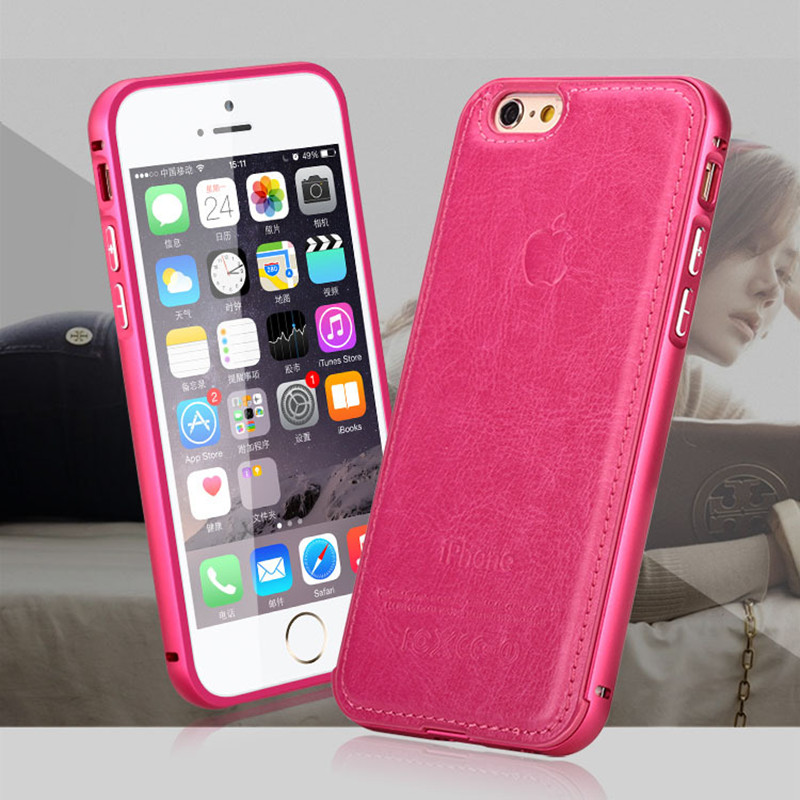 Case Luxury Case New Design High Quality Aircraft Aluminum+Leather Material Phone Cover Cases For Apple iPhone 5 5S Case Cover