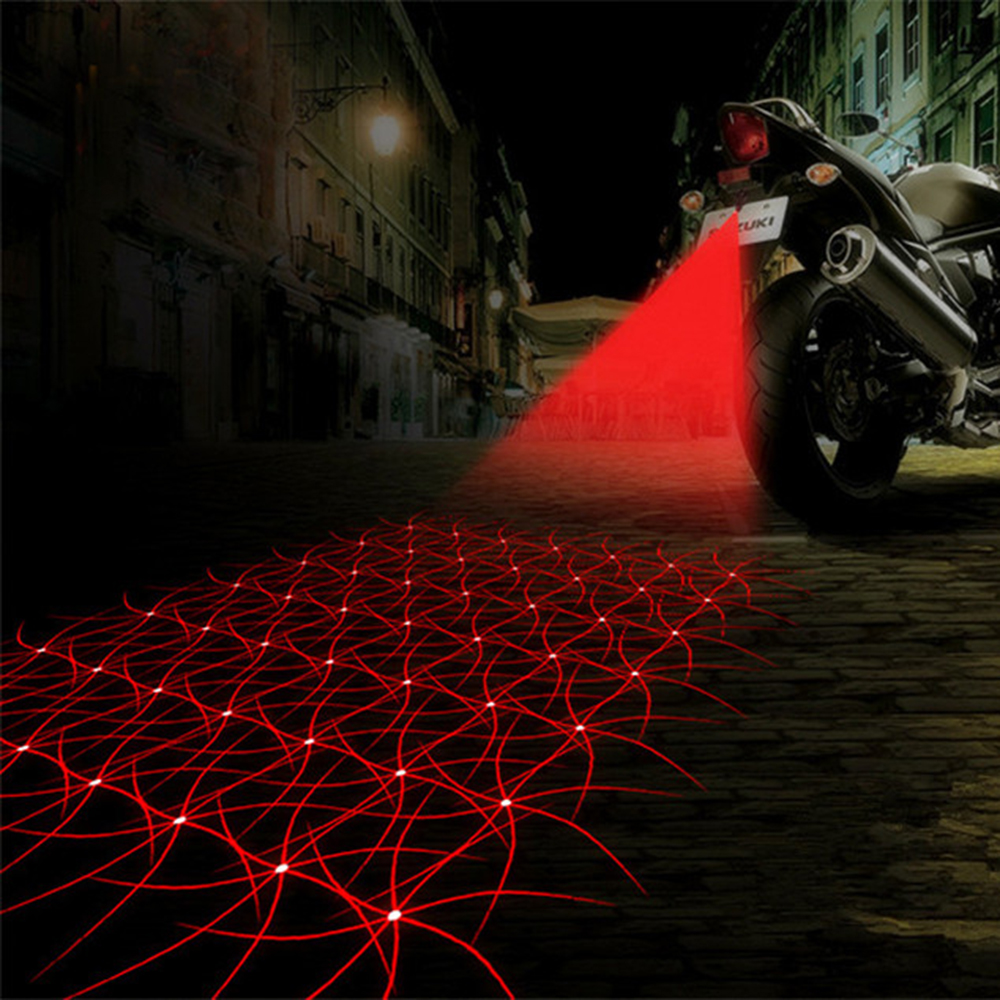 Fashion 7 Patterns Motorcycle Fog Lights Cool Motorbike Tail Light Motorcycle Rear Car Laser Brake Turn Bulb Accessories(China (Mainland))