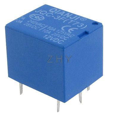 JQC-3F(T73) Electromagnetic Mini Power Relay 12V DC 5PIN PCB Type SPDT(China (Mainland))