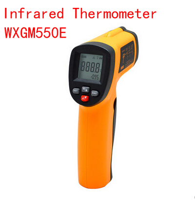 Handheld digital Precision electronic thermometer infrared thermometer gunmen industrial surface thermometer(China (Mainland))