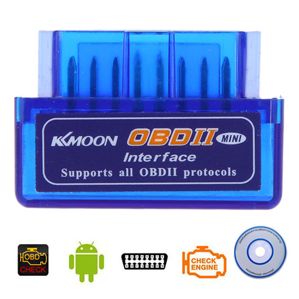 Kkmoon Mini V2.1 ELM327 OBD2 OBD 2 Bluetooth Interface Auto Car Scanner ELM 327 Diagnostic-Tool for Android WIin7 PC(China (Mainland))