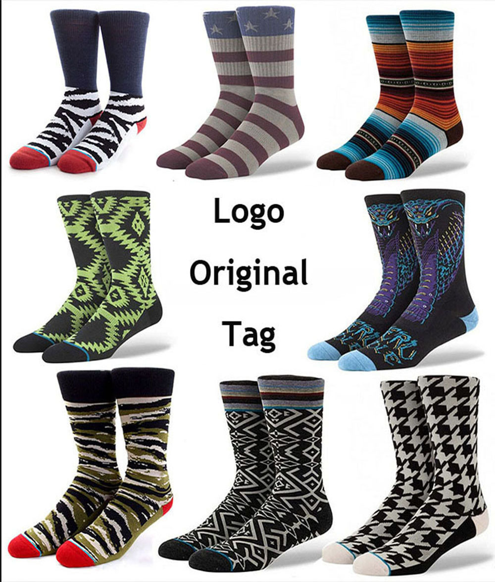 Original tag Embroidery LOGO official 50 SOCKS summer style male long skate basketball sports socks men