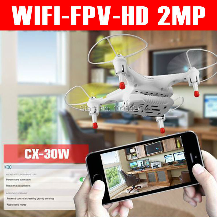 FPV RC Quadcopter with 2MP HD Camera iPhone Wifi Real-Time Video Transmission CX-30 CX-30C CX-30W CX-30S VS H9D X400 V686 H107D(China (Mainland))