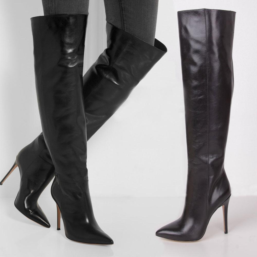 sepatulucu: Black Long Boots For Women Images