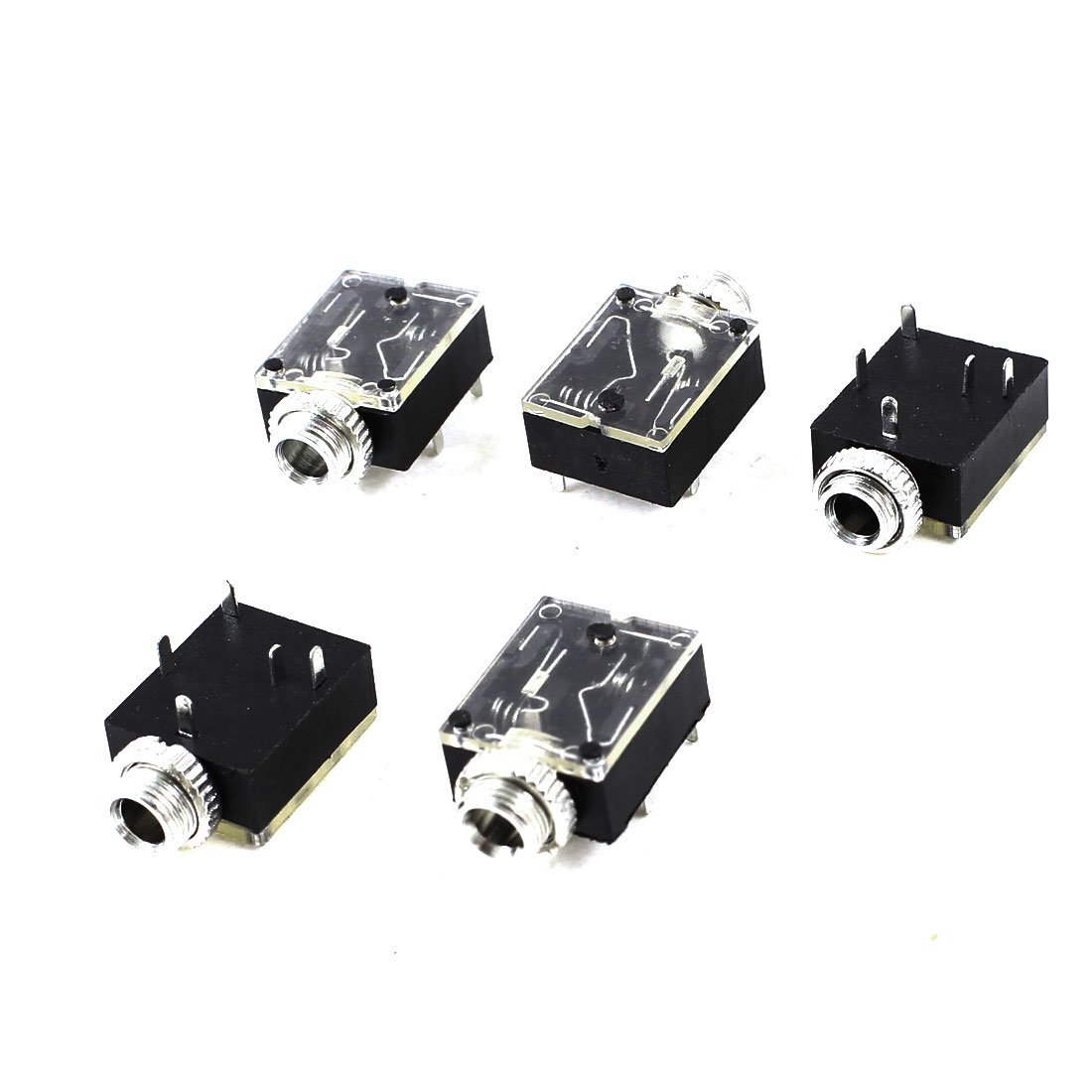 wsfs 5 pcs 5 pin 3 5mm audio stereo socket pcb panel mount in connectors from