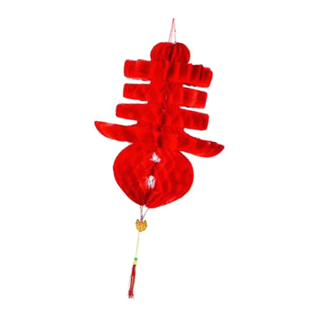 Chinese Red Paper Lantern Traditional Festival Hanging Decor Waterproof Set of 10