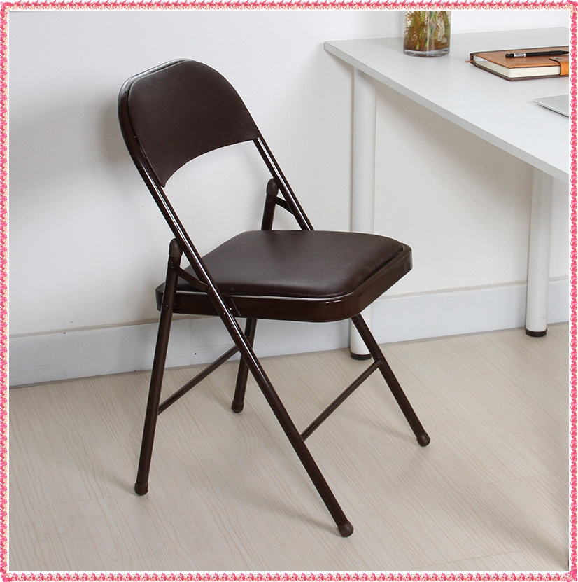 dark brown imitate leather folding  chairs hot selling<br><br>Aliexpress