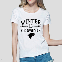 Buy Winter Coming Printed Game Thrones women T Shirt summer Casual cotton Tops tees fashion harajuku brand female punk t-shirt for $4.37 in AliExpress store