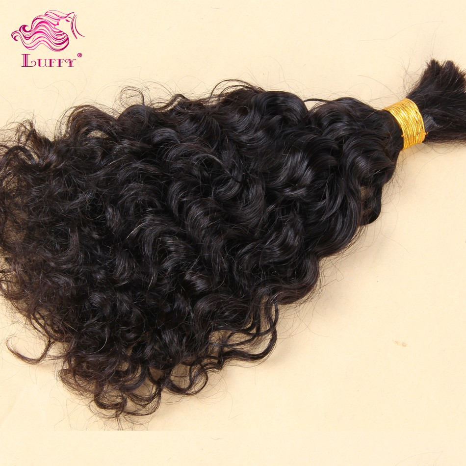 Wholesale 100% Unprocessed Human Hair Bulk Virgin Brazilian Bulk Braiding Hair Extensions Curly Bulk Hair Natural Color #2 #4