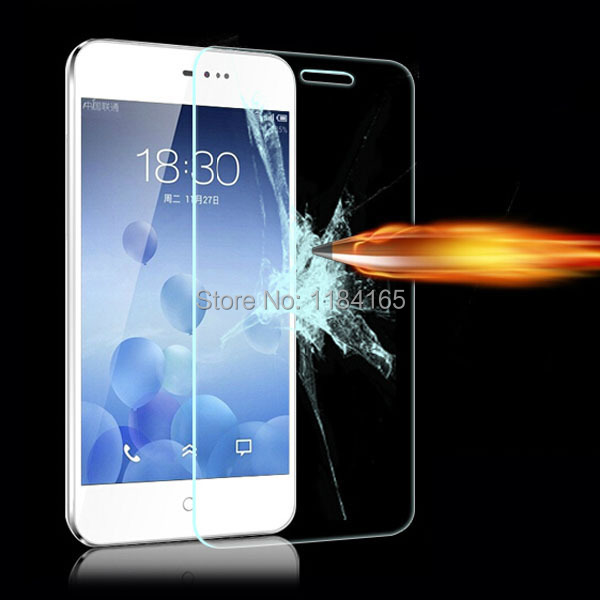 0.26mm High Clear Front LCD Explosion-proof Tempered Glass Film for Meizu MX2 Screen Protector Free Shipping pelicula de vidro(China (Mainland))