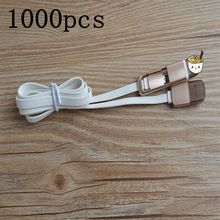 1000pcs/lot 2015 New Dual-use For iPhone 5 5S 5C 6 6 plus, For Samsung Sony HTC LG Flat 2 in 1 Sync Data Charger Practical Cable(China (Mainland))