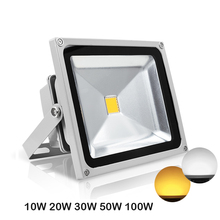 Waterproof IP65 LED Floodlight Reflector Spotlight 10W 20W 30W 50W RGB AC85 265V Outdoor Lamp For