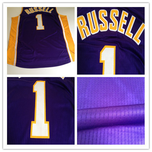 #1 D'Angelo Russell jersey,Purple Stitched mens basketball jersey,Accept mix order,Best quality,Embroidery Logos,Free shipping(China (Mainland))