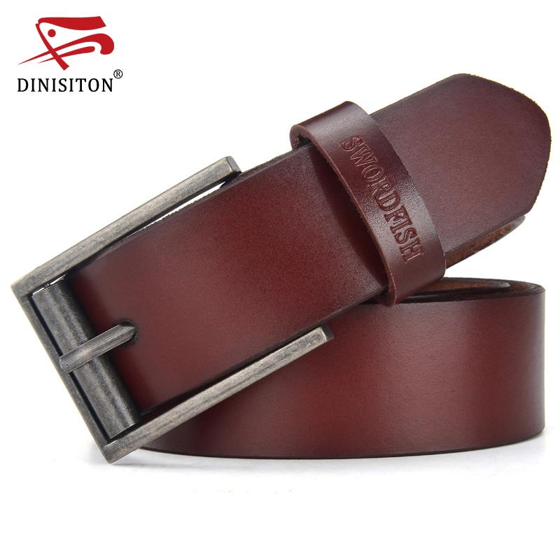 belts for men designer zbit  DINISITON Genuine Leather Belts For Men Designer Cowhide Belt Man High  Quality Vintage Jeans Belts Ceinture