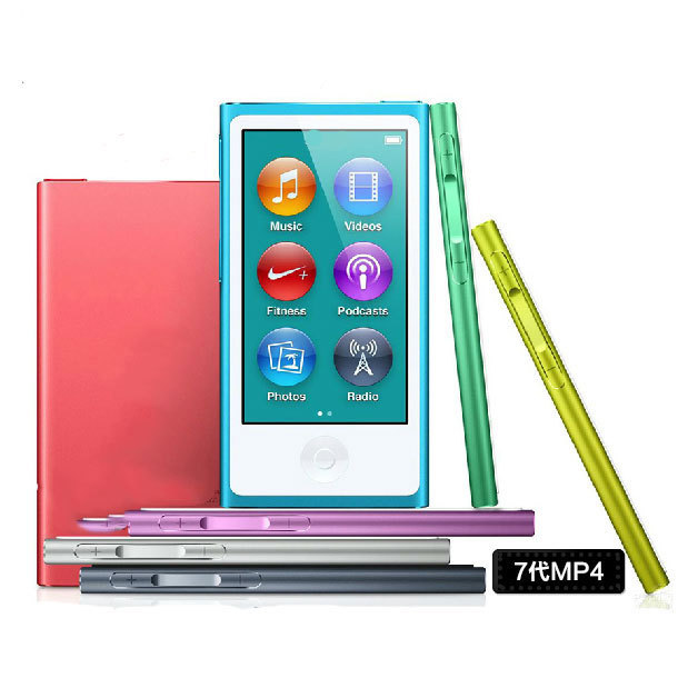 Watch For Apple iPod nano7 7th Generation 2.4'' IPS touch screen new 8GB MUSIC FM VIDEO MP3/5 PLAYER A variety of language(China (Mainland))