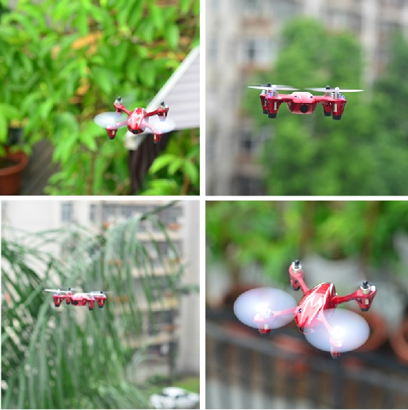 Hubsan X6 H107C 4CH Toy HD Camera Mini Drone RC Quadcopter Helicopter Gyro Led Light  360 Rotating Free Shipping with Track