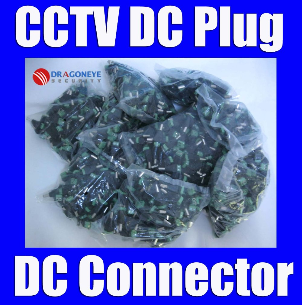 CCTV DC Male Plug DC Jack DC Connector Power Plug for Security CCTV Camera System 2.1 x 5.5mm
