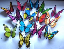 100PC-8.5CM Artificial Butterfly Kid's park/home/Wedding Favor!FREE!-wholesale(China (Mainland))
